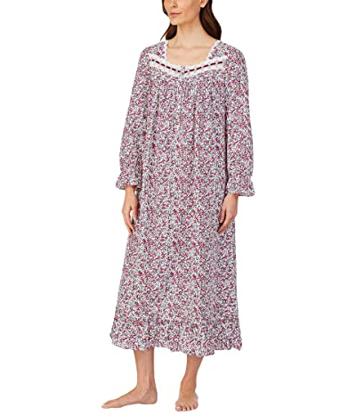 Eileen West Cotton Lawn Woven Long Sleeve Ballet Gown (Multi Floral) Women