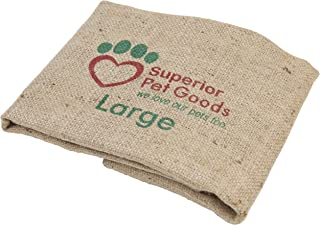Superior Pet Goods SPGCovFH2 Fitted Hessian Dog Bed Cover, Large