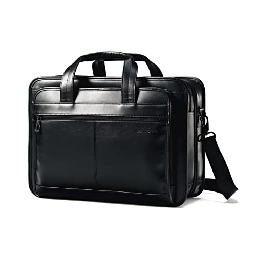 c2df018a9d6 Samsonite Leather Expandable Business Case Black