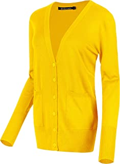 yellow varsity cardigan