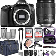 Canon EOS 80D DSLR Camera and Canon EF-S 18-135mm f/3.5-5.6 is USM Lens with Altura Photo Complete Accessory and Travel Bundle