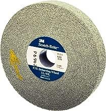 Scotch-Brite(TM) SST Deburring Wheel, Aluminum Oxide, 6000 rpm, 6 Diameter x 1 Width, 1 Arbor, 7A Fine Grit (Pack of 3)