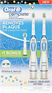 Oral-B Complete Deep Clean Battery Toothbrush, 2 Count