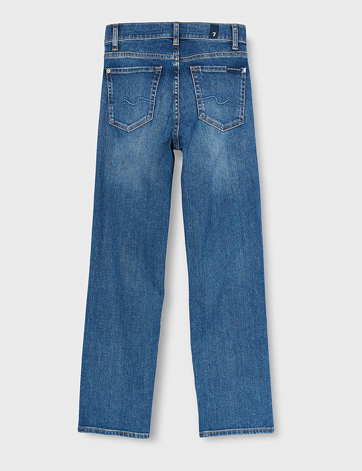 7 For All Mankind The Straight Crop Jeans Femme Light Blue