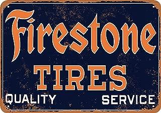 Wall-Color 7 x 10 Metal Sign - Firestone Tires - Vintage Look