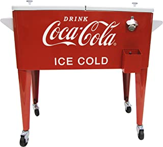 Leigh Country CP 98119 Coca Cola Metal Ice Cold Cooler, 80-Quart