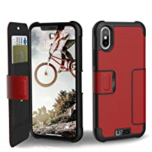 URBAN ARMOR GEAR UAG Folio iPhone Xs/X Metropolis Feather-Light Rugged [Magma] Military Drop Tested iPhone Case