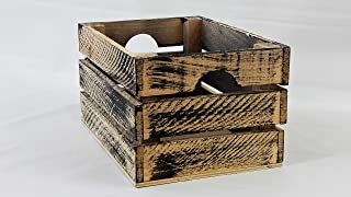 At Home on Main Handcrafted Rustic Crates - Small (Black)