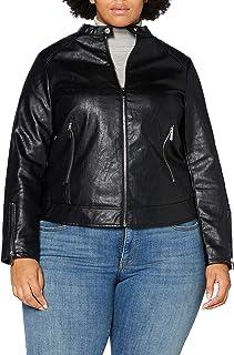 Dorothy Perkins Curve Curve Black PU Collarless Jacket Chaqueta de Cuero sintético para Mujer