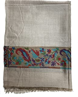 Scarves For Women Kani Embroidery Work 100% Wool Scarf Shawl Soft And Durable a perfect accessory