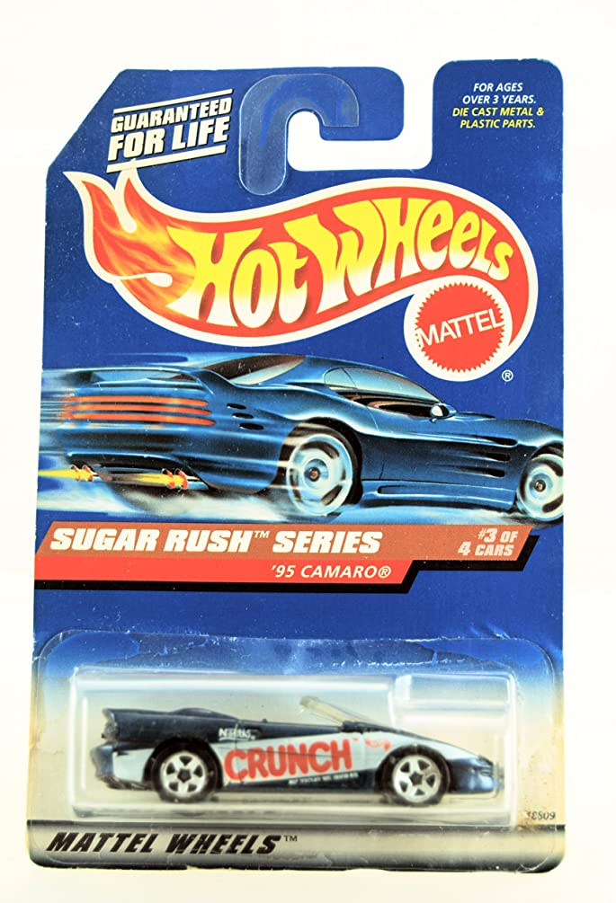 Hot Wheels - 1998 Sugar Rush Series - 1995 Camaro - Nestle Crunch Paint Job - #3 of 4 - Die Cast - Limited Edition - Collectible 1:64 Scale
