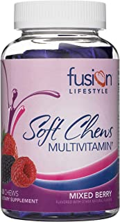Fusion Lifestyle Soft Chew Multivitamin for Men and Women, Two Month Supply, 60 Count