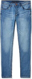 Brave Soul Sandblasted Skinny Fit Jeans for Men - Blue, 28 EU
