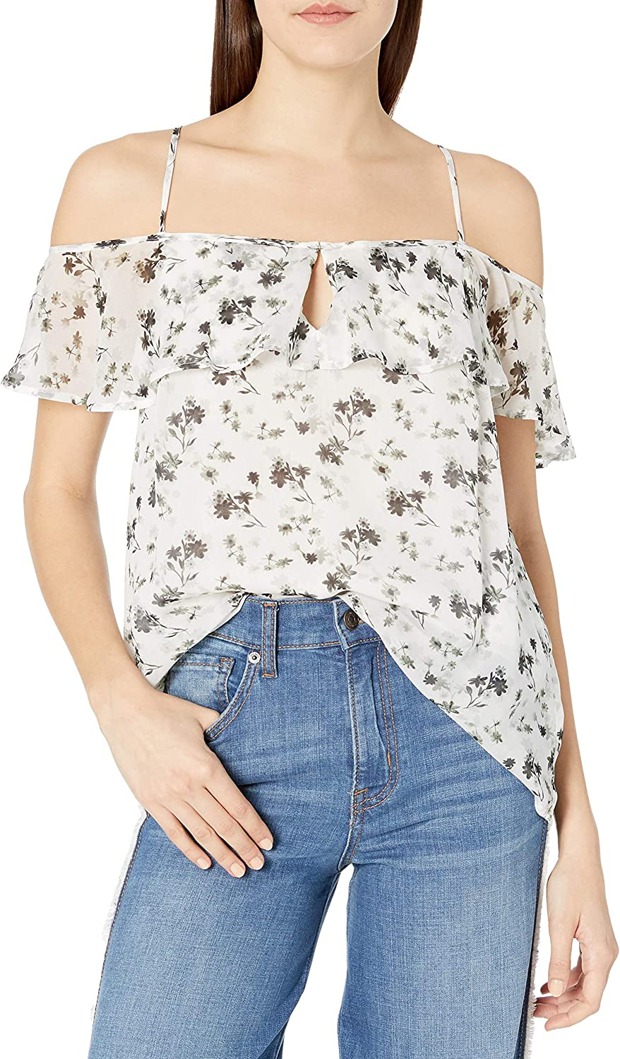 Lucky Brand Women's Ruffled latest Top Tank Max 49% OFF