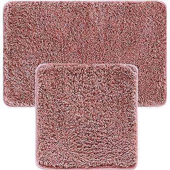 JEMIDI Bad Garnitur Badematten 2 teilig Teppich Badezimmer