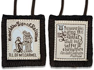 VGI Official Our Lady of Mount Carmel Brown Scapular - 100% Wool!
