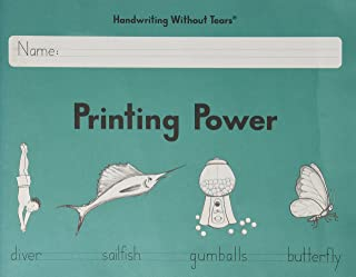 Learning Without Tears - Printing Power Student Workbook, Current Edition - Handwriting Without Tears Series - 2nd Grade Writing Book - Writing and Language Arts Lessons - For School or Home Use