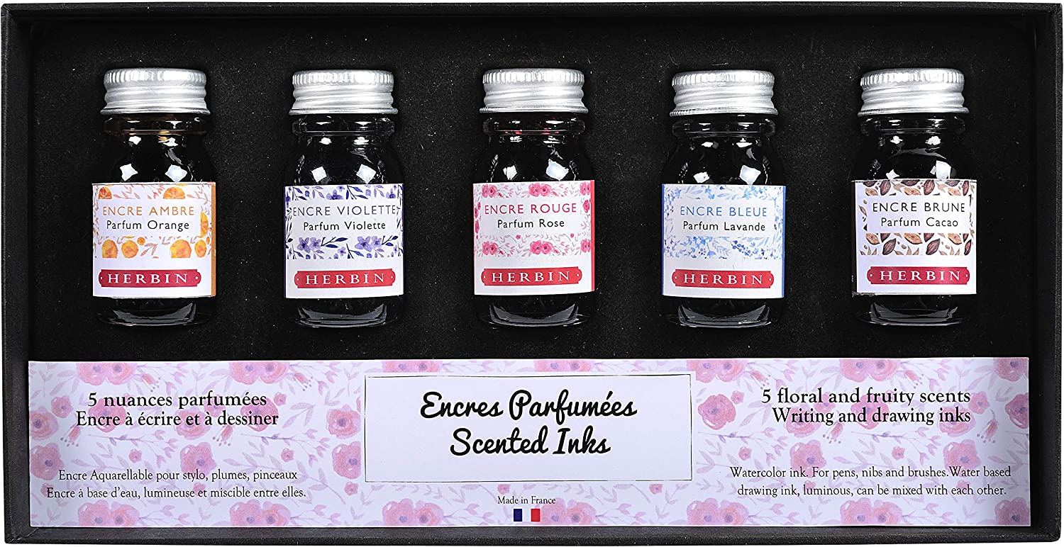 Herbin 18700T - Set of 5 Bottles For price ml Scented Ink Founta 10 Tucson Mall
