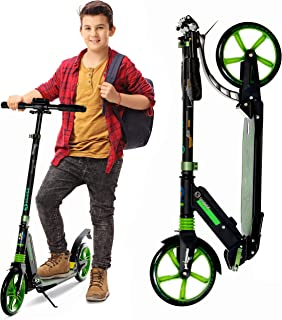 SKIDEE Scooters for Kids 8 years and Up - Foldable Scooter with 8-Inch Wheels and Anti-Shock Suspension - 4 Adjustment Lev...