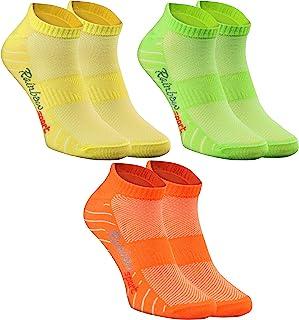 Rainbow Socks - Donna Uomo Calze Sportivi di Cotone 3 Paia