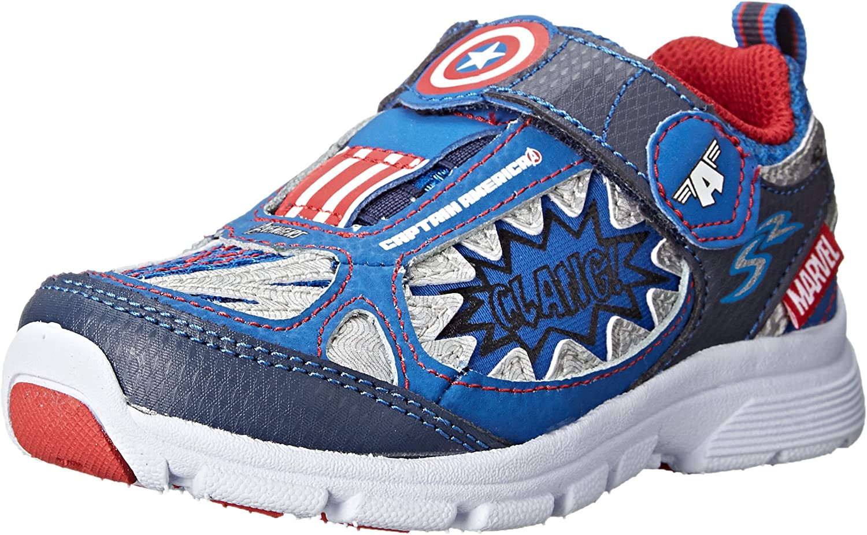 Stride Stride Stride Rite Avengers Captain America Athletic skor (Toddler  Little Kid)  100% passform garanti