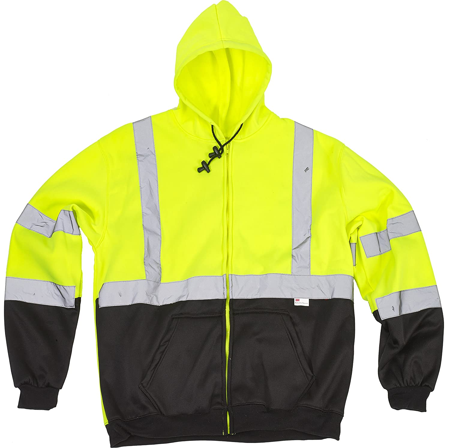 MIVIS SAFETY APPAREL 16385-138-3 Cheap mail order shopping Sweatshirt Hi-Visibility Hooded High quality