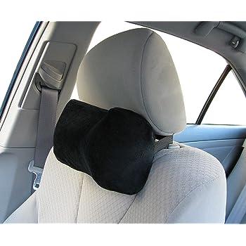 TravelMate Car Neck Pillow (Soft Version)- Neck Pillow; Car Pillow; Memory Foam Neck Pillow; Neck Rest Pillow; Car Neck Pillow (Color: Black)