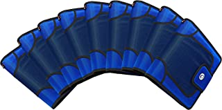 Case-It Open Tab Velcro Closure 2-Inch Binder with Tab File, Blue, pack of 9