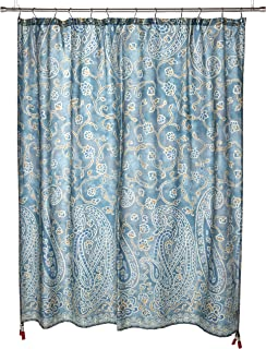 Harbor House HH70-1258 Belcourt 200TC Cotton Shower Curtain 72x72 Blue,72x72