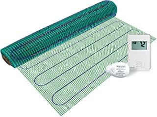 WarmlyYours TRT120-KIT-ON-3.0x03 Tempzone Easy Electric Floor Heating Mat Kit, 9 sq. ft, Non-Programmable GFCIThermostat