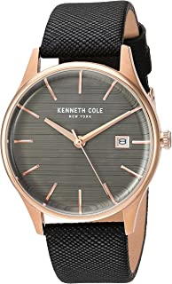 Kenneth Cole Women's Classic Watch with Black Leather Strap - KC15109001