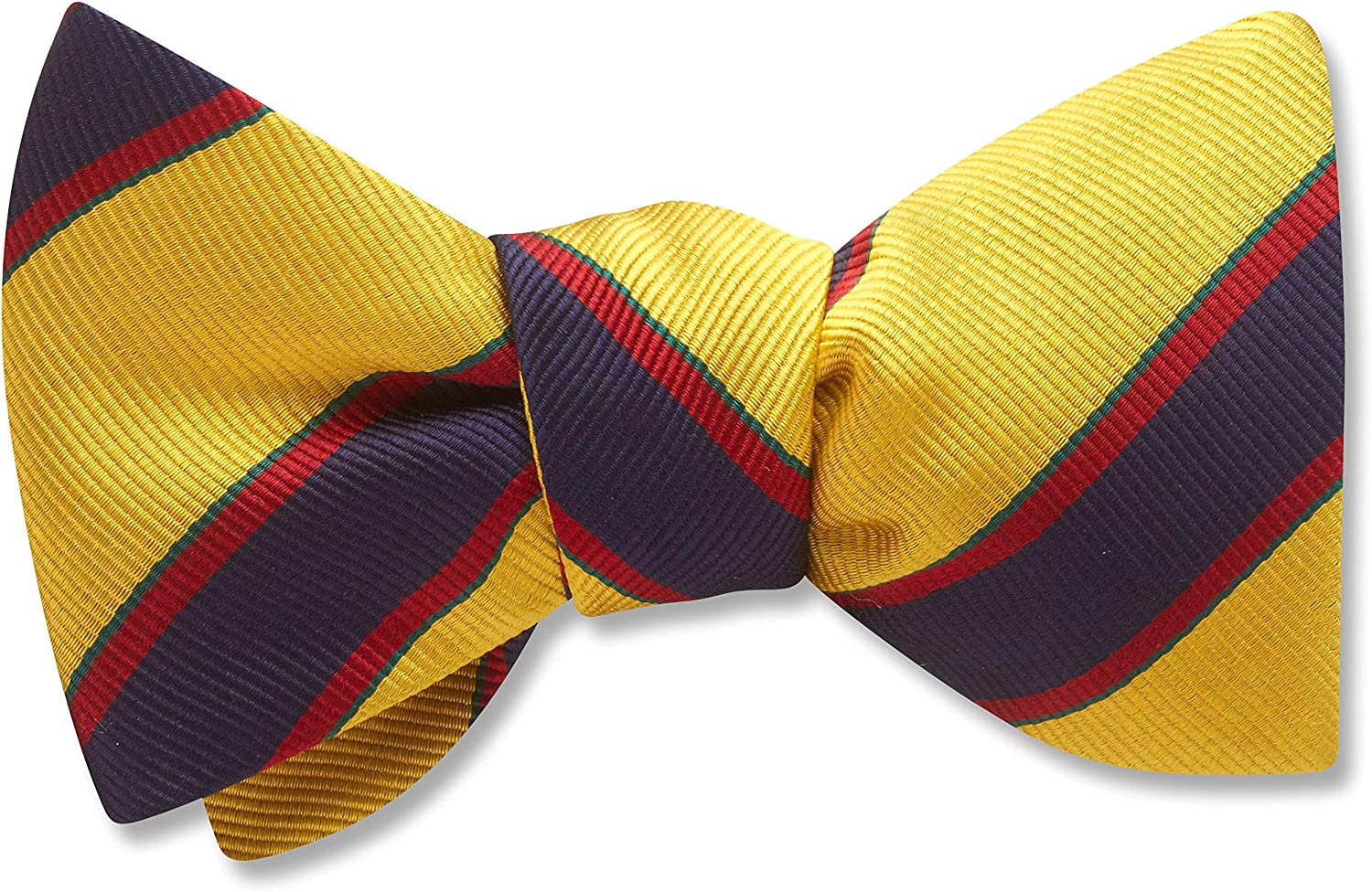 Goodwin Yellow/Gold Striped, Men's Bow Tie, Handmade in the USA