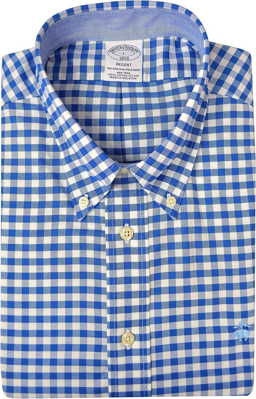 Brooks Brothers Men's Regent Fit Non-Iron Supima Cotton Bold Checkered The Original Polo Shirt
