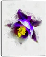 Design Art Blue Flower with Yellow Stigma Floral on Canvas Art Wall Photgraphy Artwork Print
