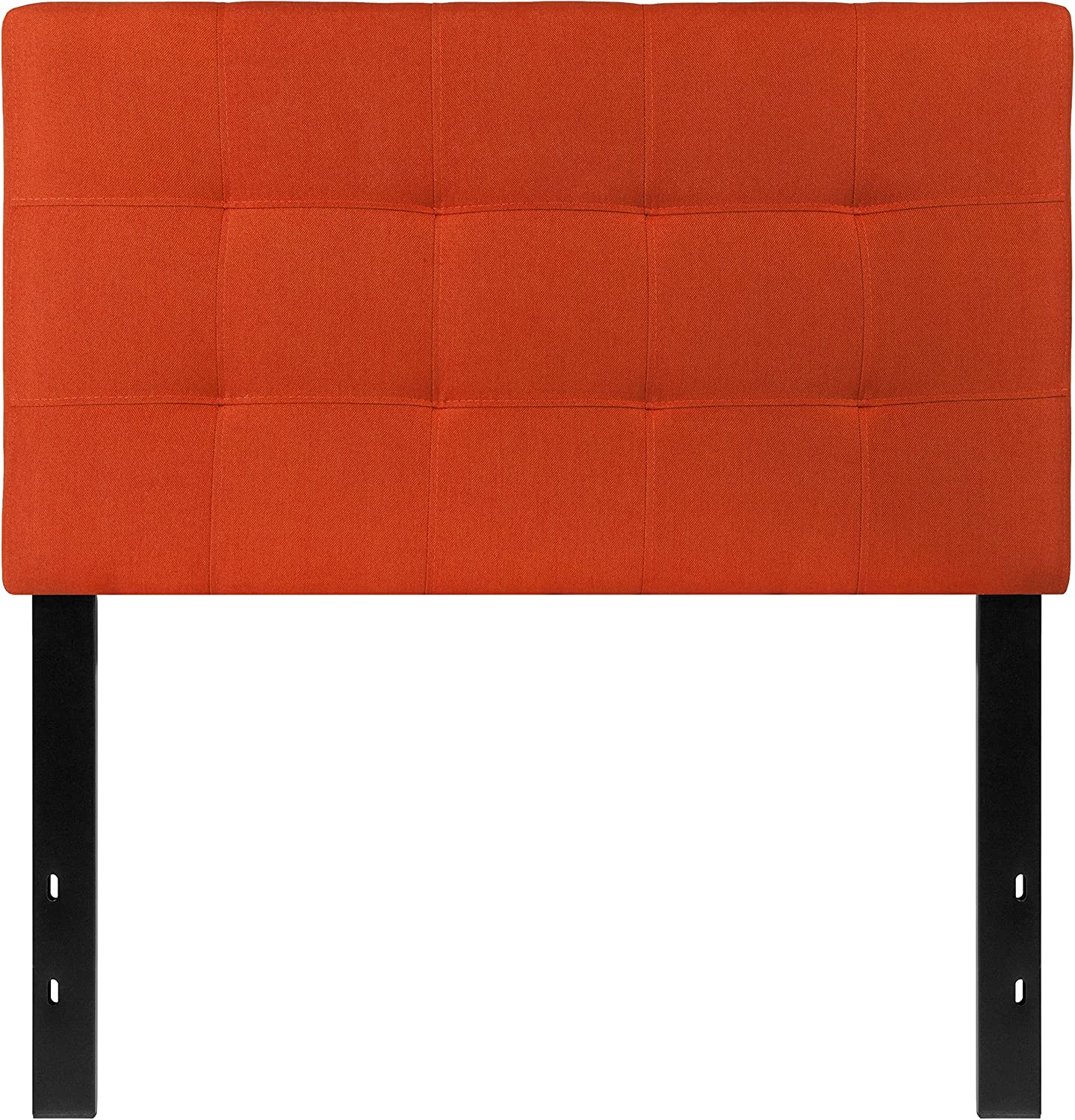 Flash Furniture Bedford Tufted Upholstered Twin Size Headboard in orange Fabric