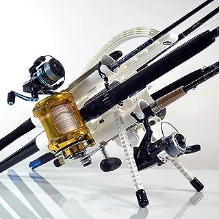 Rod-Runner Fishing Rod Rack | PRO 5 Portable Rod Holder | White