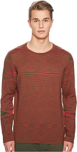 Missoni - Fiammato Pima Cotton Long Sleeve Sweater