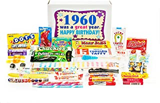 Woodstock Candy ~ 1960 59th Birthday Gift Box Nostalgic Retro Candy Mix from Childhood for 59 Year Old Man or Woman Born 1960 Jr