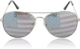 SunnyPro Usa Sunglasses American Flag Glasses July 4 Accessories UV400 Protected