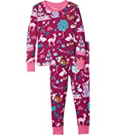 Hatley Kids - Woodland Tea Party Long Sleeve Pajama Set (Toddler/Little Kids/Big Kids)