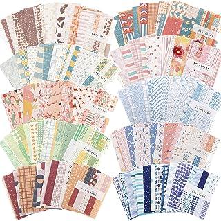 500 Feuilles Fournitures de Papier de Scrapbooking Bricolage Vintage Fournitures de Papier Esthétiques Matériel de Papier ...