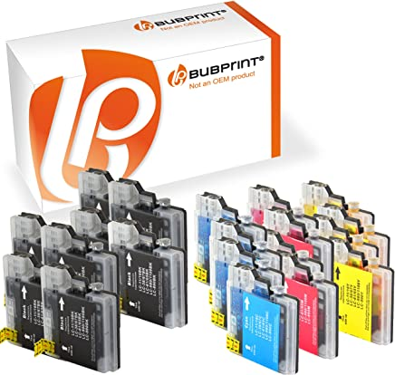 Bubprint 20 Druckerpatronen kompatibel für Brother LC-1100 LC-980 für DCP-145C DCP-195C DCP-375CW DCP-J715W MFC-490CW MFC-5890CN MFC-5490CN MFC-6490CW