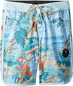 "Surfari Washed 4-Way Stretch Boardshorts 17"" (Big Kids)"