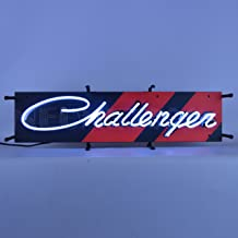 Neonetics Dodge Challenger Junior Sign Bright White Real Neon Tubes 28 Inch by 9 Inch – 5SMCLG