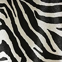 Chester - Zebra Print Vinyl Faux Leather Upholstery Fabric by The Yard