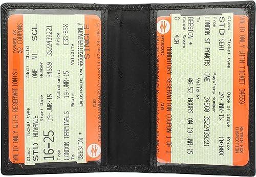 Visconti Leather Oyster Card/Travel Pass Holder TC1TC Black