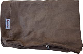Microsuede External Pet Bed Cover for Small Medium to Extra Large Dog, Brown Color 7 Sizes - Replacement Cover only