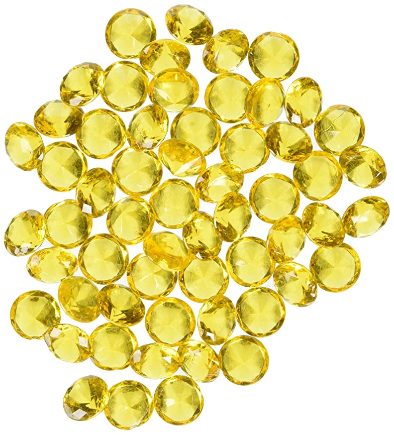 Homeford Firefly Imports Acrylic Diamond Gemstone Table Scatter, 3/4-Inch, 240-Piece, Gold, 3/4