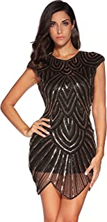 Women's 1920s Vintage Gatsby Sequin Embellished Flapper Mini Dress