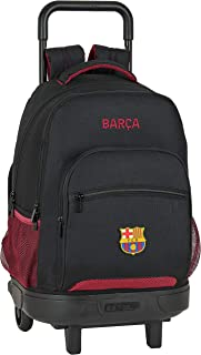 Mochila Escolar con Carro Incluido y Espalada Acolchada de FC Barcelona, Multicolor (FC Barcelona Layers)